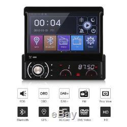 7 Inch 1 Din Car Media DVD Player Bluetooth GPS Navigation System FM Radio AUX