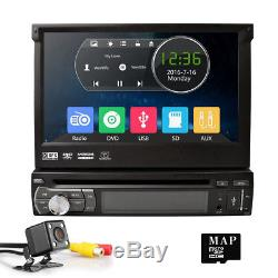 7 Single DIN GPS Auto DAB+ Radio Flip-Out Car Stereo DVD Player Bluetooth USB