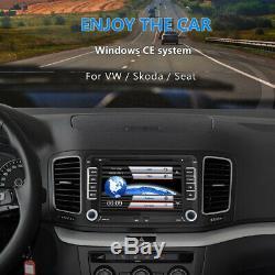 7 Stereo Car Radio CD DVD Player Bluetooth FM For Seat Skoda VW Passat Touran
