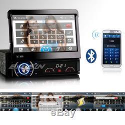 7 Touch Screen 1 Din Car CD DVD Player Stereo GPS Sat Nav Bluetooth Detachable