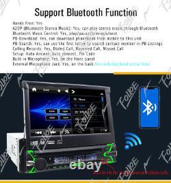 7 Touch Screen 1 Din Flip Up Car DVD Player GPS SatNav Radio Bluetooth Stereo