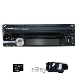 7 Touch Screen 1 Din Flip Up Car DVD Player GPS Sat Nav Radio Bluetooth Stereo