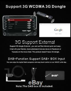 7 VW Golf MK5 Car Stereo Radio DVD Player SAT NAV GPS Navigation Bluetooth RDS