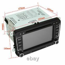 7 inch 2 DIN Car Stereo DVD Player Radio GPS SAT NAV + Camera For VW Passat Golf