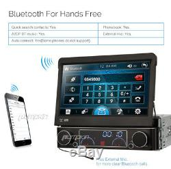 7 inch Single 1 DIN Car Stereo DVD Player GPS Bluetooth Navigation Touch Screen