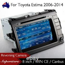 8 Car DVD Player Nav GPS Stereo Radio For Toyota Estima 2006-2014