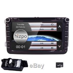 8 Car DVD Player Radio Stereo GPS Navi Unit for VW Golf MK5 Passat Eco+Camera