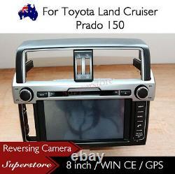 8 Car Radio CD DVD Player Nav GPS For Toyota Land Cruiser Prado 150 2014-2016