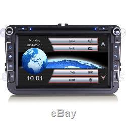 8 GPS Sat Nav Radio Bluetooth RDS Car DVD Player USB Stereo For VW SKODA & SEAT