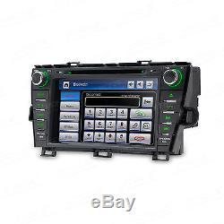 8 In Dash Car Sat Nav GPS CD DVD Player Stereo Radio for Toyota Prius 2009-2013