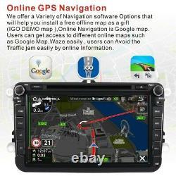 8 VW Golf MK5 Car Stereo Android 10 DVD Player SAT NAV GPS Navigation Bluetooth