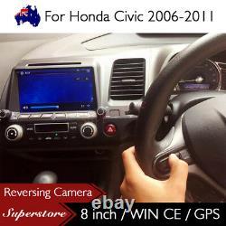 8 inch Car DVD GPS Stereo Player Head Unit For Honda Civic AUS RHD 2006-2011