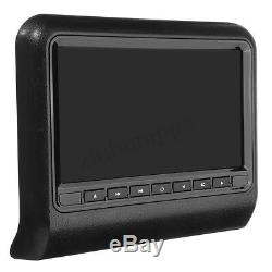 9Inch Car Headrest DVD Player Auto Monitor Video Game FM IR Touch Button USB SD