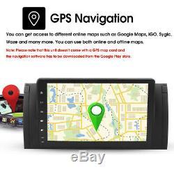 9'' Android8.1 Car Stereo Radio GPS Sat Nav DAB Wifi For BMW 5 Ser E39 E53 X5 M5