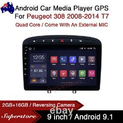 9 Android 9.1 Car Stereo non dvd Player GPS Head Unit For Peugeot 308 08-14 T7