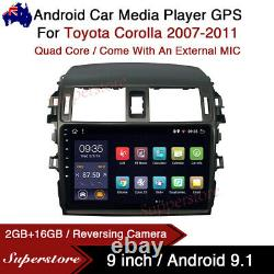 9 Android 9.1 Car Stereo non dvd Player GPS Head Unit For Toyota Corolla 07-11