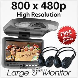 9 In Car Roof Mount Flip Down Overhead Monitor Screen DVD Player GDTnz Games