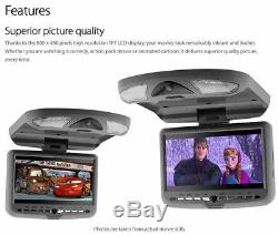 9 In Car Roof Mount Flip Down Overhead Monitor Screen DVD Player KTnz Games