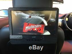 9 Inch Twin Screen Portable Dual DVD Player, Rechargable, In Car, Multi Region