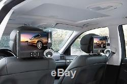 AEG Twin Duo 9 Zoll Monitor DVD-Player Car Cinema mit Kopfhörer USB MP3 NEU