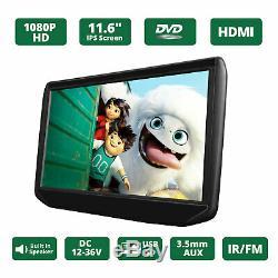 Active Slim 11.6 IPS Large Screen Car DVD Player Headrest Monitor Pillow USB SD