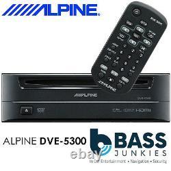 Alpine DVE-5300 Single 1 Din Boot Mount Car CD DVD MP3 WMA DivX Disc Player