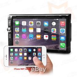 Android 4.4 Double 2 DIN 6.95 Headunit Car Radio Stereo DVD Player GPS SAT NAV