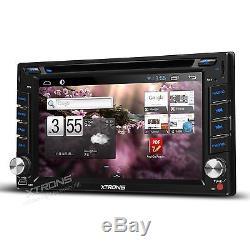 Android 4.4 GPS Sat Nav CD DVD Player Car Radio Stereo Freeview DVB-T Digital TV