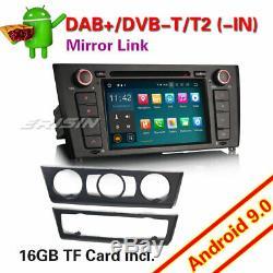 Android 9.0 Car Head Unit SatNav Canbus DAB+ BT OBD2 TPMS for BMW E81 E82 E88