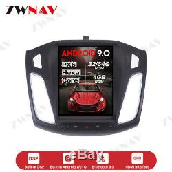 Android 9.0 Tesla style Car DVD Player GPS Navigation For Ford Focus 2012-2018