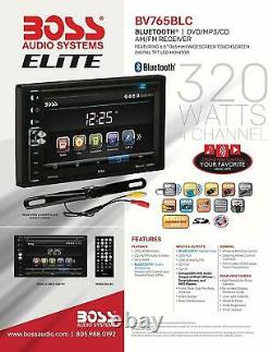 BOSS Audio Elite BV765BLC Car DVD + Backup Camera Bluetooth, 6.5 Touchscreen