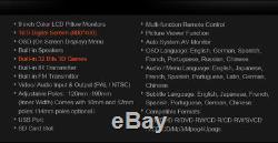 Black 2X 9 Digital Screen Car Headrest DVD Player USB FM IR GAME Zipper Cover