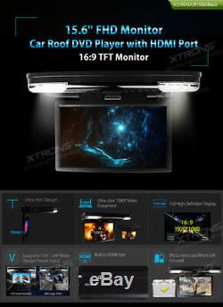 Black Car Flip Down Video 15.6 DVD Player Built-in HDMI 1080p Full HD Monitor