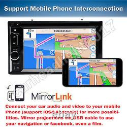 Bluetooth 6.2 inch Double Din Car Stereo CD DVD Player Touch screen with Camera