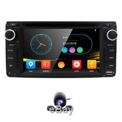 Bluetooth Radio For Toyota Double 2Din In-Dash GPS Car DVD Player RDS Capacitive
