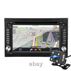 Car 6.2'' Double 2 Din CD DVD Player Radio Stereo Mirror Link USB + Rear Camer