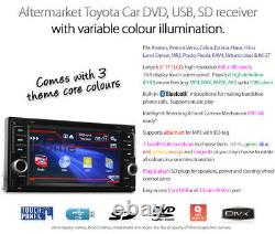 Car DVD MP3 Player For Toyota Hilux MR2 GT 86 Previa Head Unit Radio Stereo CD K