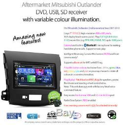 Car DVD MP3 Player Mitsubishi Outlander GS Stereo Radio Head Unit CD Fascia ET