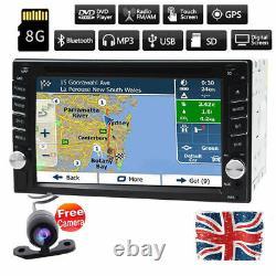 Car DVD Player Stereo Auto Radio GPS Sat Nav 6.2 Touch Screen Bluetooth+Camera