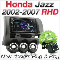 Car Dvd Player Usb Head Unit Radio For Honda Jazz 2002 2007 Fascia