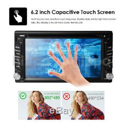 Car GPS 2Din Stereo Radio CD DVD Player Bluetooth with Map +Camera Fit Universal