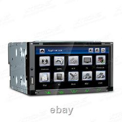 Car GPS Sat Nav Radio Stereo DVD Player Double DIN Bluetooth Head Unit USB SD
