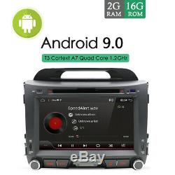 Car Radio Android 9.0 Stereo for Kia Sportage R Navi GPS Bluetooth DVD SD USB FM