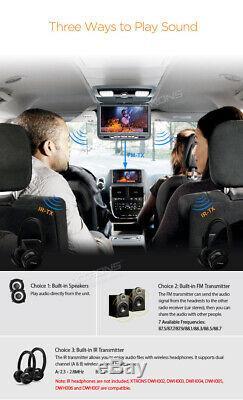 Car Roof Monitor Flip Down DVD Player Overhead Video AUX/AV/FM/IR/TV/GAME GREY