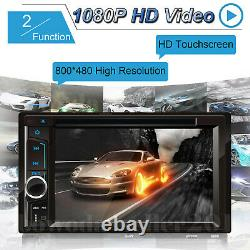 Car Stereo Radio Double 2Din In-Dash Bluetooth CD DVD Player Touchscreen & Cam