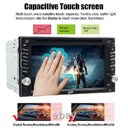 Double 2 DIN 6.2Inch Touch Car DVD Player GPS Sat Nav Stereo FM Radio CD Camera