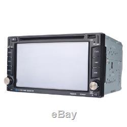 Double 2 Din 6.2 HD GPS Navigation Car Stereo DVD MP5 Player FM Radio +Camera