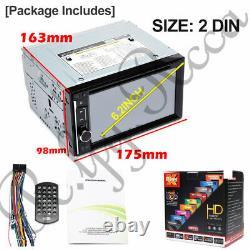 Double 2 Din 6.2 Sat Nav Car DVD Player Stereo Bluetooth Mirror Link TV Radio
