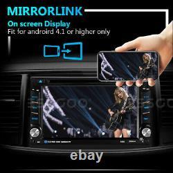 Double DIN 6.2 Car Stereo CD DVD Player GPS NAVI Radio Bluetooth AUX USB TF UK