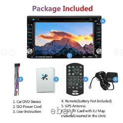 Double DIN 6.2 Car Stereo DVD Player Sat Navi GPS Mirror Link USB Radio with MAP
